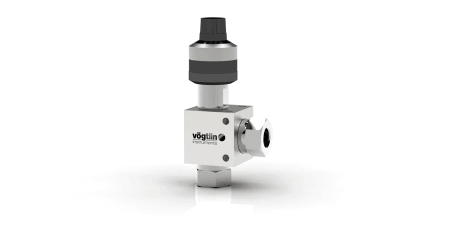 High-precision control valves for gases and liquids M-Flow - Corner Version