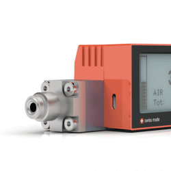Battery Powered Digital Mass Flow Meters for Gases red-y compact series Vacuum Fittings