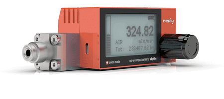 Batteriebetriebene digitale Massenmesser für Gase red-y compact series
